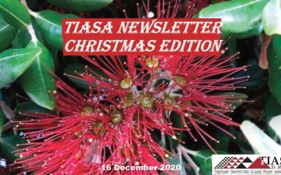 TIASA NEWSLETTER CHRISTMAS  EDITION 2020